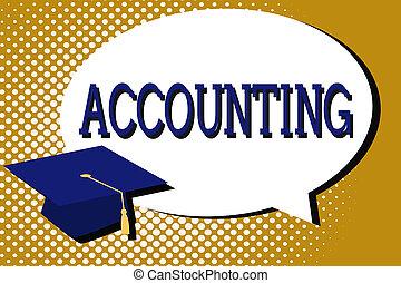 beibehaltung, finanziell, prozess, text, ausstellung, arbeit, zeichen, analysieren, foto, begrifflich, konten, accounting.