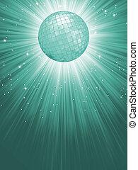 Beidge disco rays with stars. EPS 8