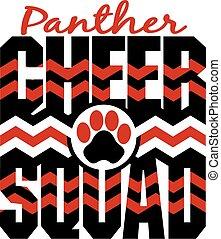 beifallsruf, panther, gruppe