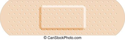 Beige adhesive bandage band aid