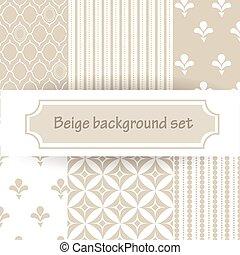 beige background set - beige seamless background set in...