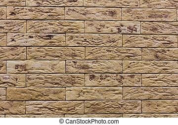 Beige background siding, stone texture tiles