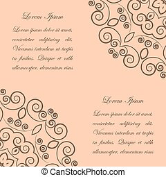 Beige background with brown ornate pattern