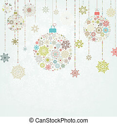Beige background with christmas balls. EPS 8 vector file ...