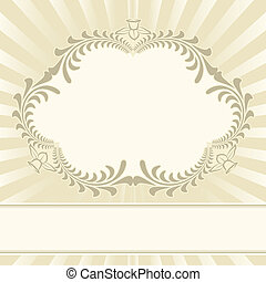 beige background with floral ornaments