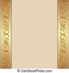 beige background with golden ornaments