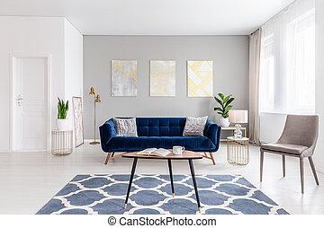 beige, bohnenkaffee, rgeöffnete, echte , blaues, gold, inneneinrichtung, photo., gegenstände, möbel, color., raum, lebensunterhalt, andere, tisch, modern, sofa, marine, sessel, zimmer