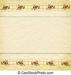 beige border of lace with roses