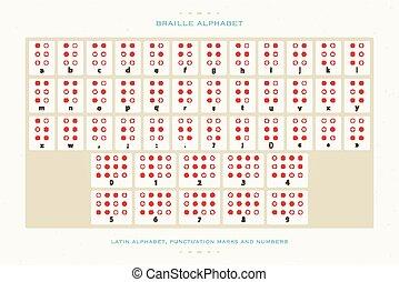 beige braille - international Braille alphabet poster with ...