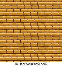 Beige Brick Wall Seamless Texture