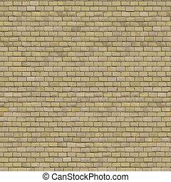 Beige Brick Wall. Seamless Tileable Texture.