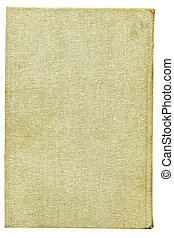 Beige burlap canvas. Over white - Full screen high...