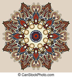 beige colour mandala, circle decorative spiritual indian symbol