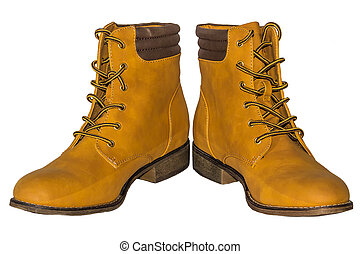 beige, con, marrone, passeggiare inizializza, laccio, su, basso, tallone