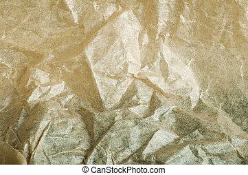 Beige crumpled paper background
