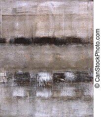 beige, en, bruine , abstracte kunst