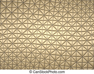 Beige fabric with triangle stitched pattern