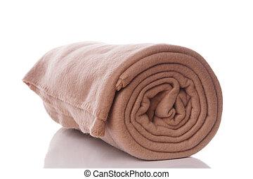 beige fleece blanket