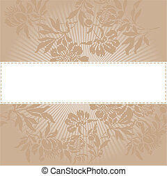 Beige floral background - abstract background with a white ...