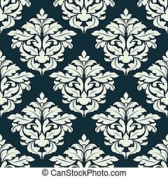 Beige floral damask seamless pattern