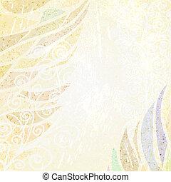 beige, floral, fond, résumé, lumière