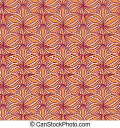 Beige Floral Seamless Pattern with Flower in Row