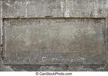 beige gray blue worn dirty damaged stone wall