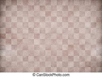 Beige grunge checkered paper background