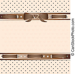 beige lace and ribbons - background fantasy brown-beige:...