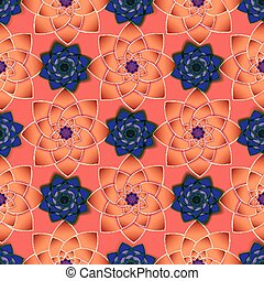beige, lilas, cercle, flowers., pattern., ornement