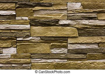 beige natural stone facade, wall tiles texture