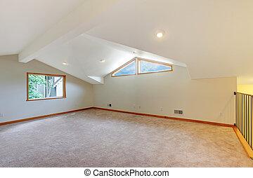 beige, nuevo, grande, habitación, alfombra