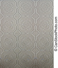 Beige or plain tin pattern - Original pressed tin wall tile ...