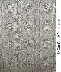 Beige or plain tin pattern - Original pressed tin wall tile...