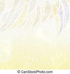 beige, résumé, fond, floral, lumière