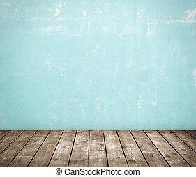 beige room - High resolution blue concrete room