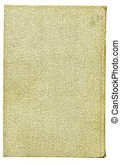 beige, säckväv, kanfas., över, vit