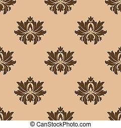Beige seamless floral pattern background