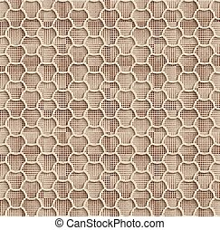 Beige Seamless Web Hexagon Pattern