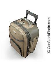 Beige travel suitcase - isolated