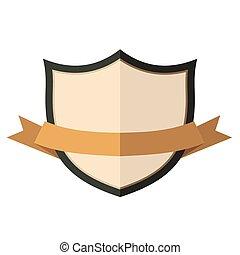 Beige vintage badge