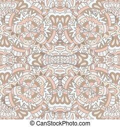 beige, wallpaper., seamless, carreau, texture., vecteur, damassé, lumière, arrière-plan., élégant