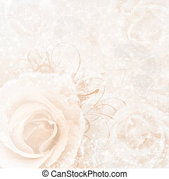 beige wedding background with roses