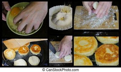 beignets, collage, préparation