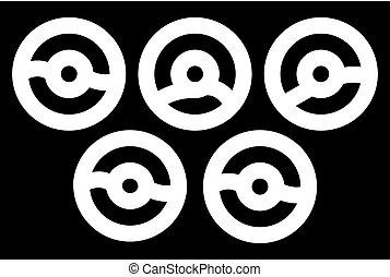beignets, glyph, vecteur, illustration, icône, plaque