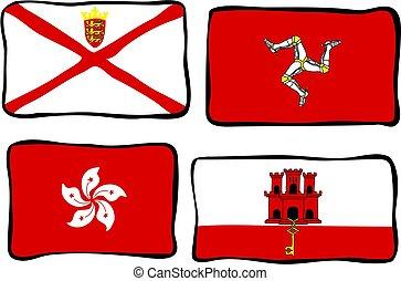 beijedt, zászlók