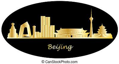beijin china city skyline