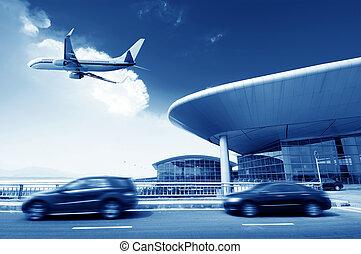 Beijing Airport - the scene of T3 airport building in...