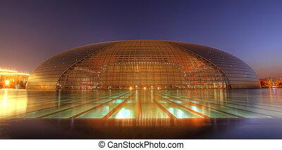 beijing, artes, amaestrado, centro, nacional