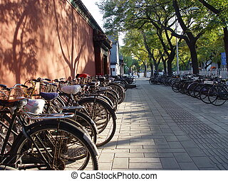 beijing, bicicleta, -, china